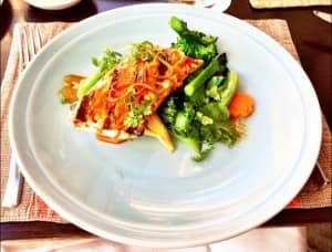 ... terriyaki grilled kingfish