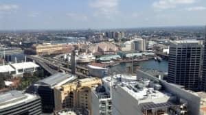 A superb view over Darling Harbour...from Fraser Suites Sydney