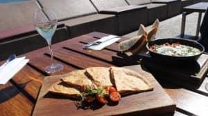 Chorizo, egg and manchego quesadilla...Opera Bar