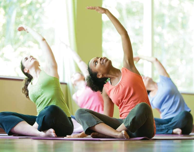 De-stressing: Yoga classes
