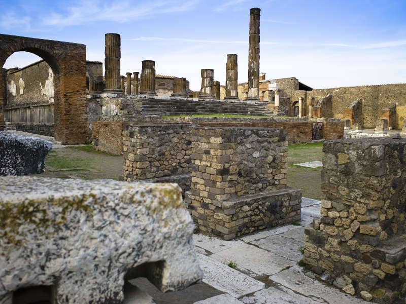Preserved ruins, Pompeii, Italy