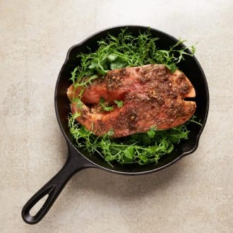 Slow Cooked Ocean Trout Cutlet with Cirrus XO and Soft Herbs